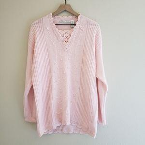 Vintage Oversized Beaded Grandma Sweater